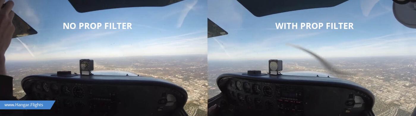 GoPro propeller filter - Best Aviation Cameras and Mounts for Pilots