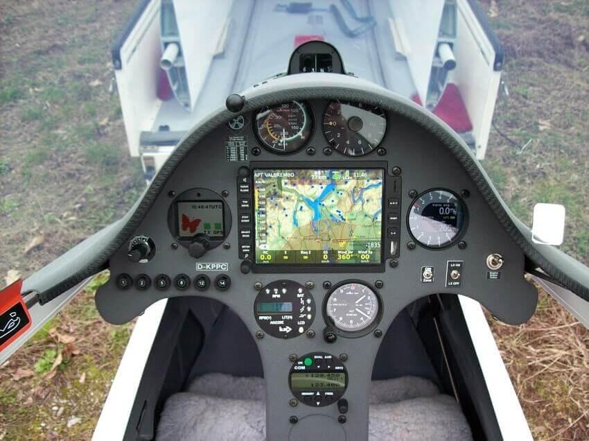 ASG29 modern glider cockpit