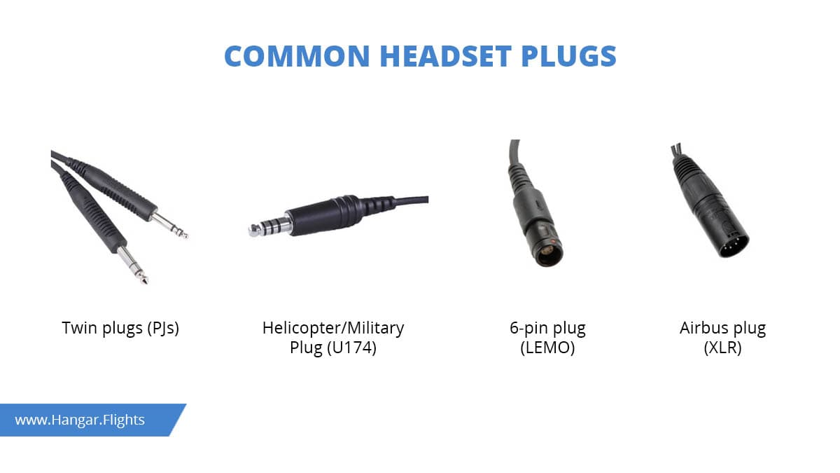 Best aviation headsets: plugs and cables