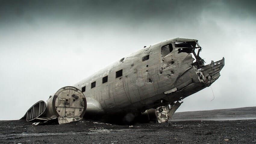 Iceland DC-3 airplane wreck