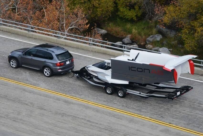 Icon A5 amphibous, trailer
